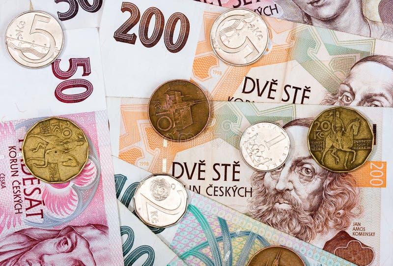 捷克货币 库存图片