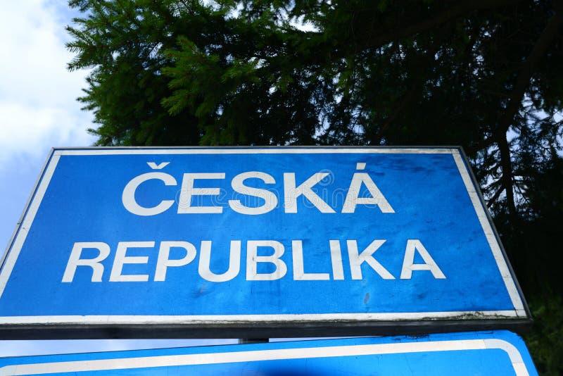 捷克边界 库存照片