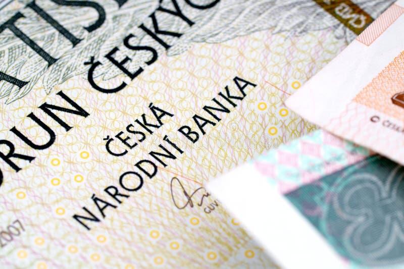 捷克钞票冠 免版税库存图片