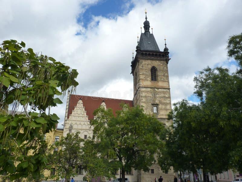 捷克,布拉格-新村城镇厅 库存照片