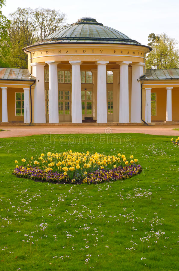 捷克lazne marianske marienbad共和国温泉 免版税库存图片