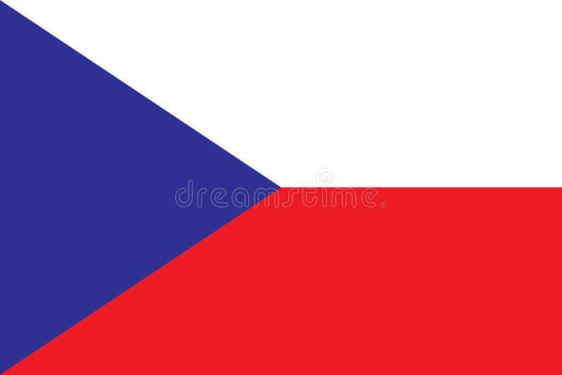 捷克oficial颜色和比例的旗子 皇族释放例证