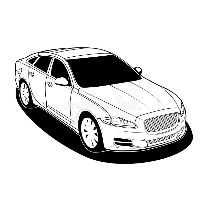 捷豹汽车xj 2010传染媒介 免版税图库摄影