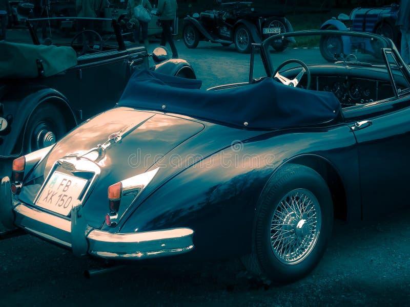 捷豹汽车XK 150,1956年 库存图片