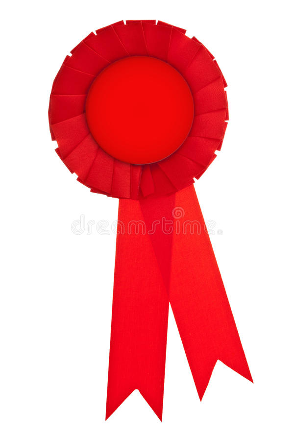 授予红色丝带 免版税库存照片