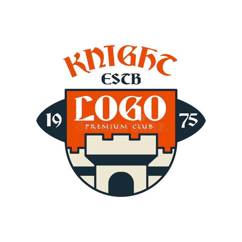 授以爵位escb商标、优质俱乐部、葡萄酒徽章或者标签,纹章元素传染媒介例证 向量例证