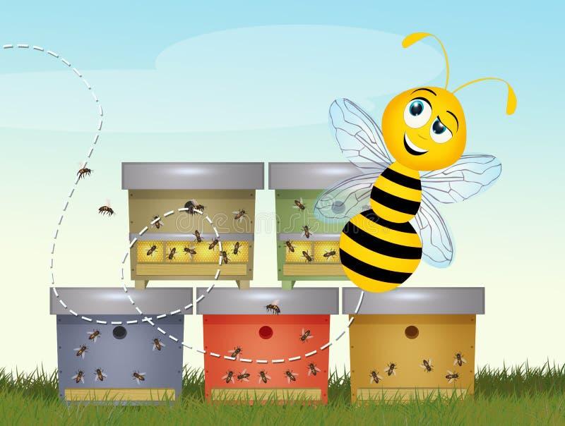 授粉蜂房的例证 库存例证