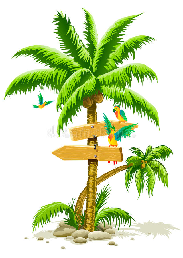 掌上型计算机模仿符号结构树热带木 库存例证