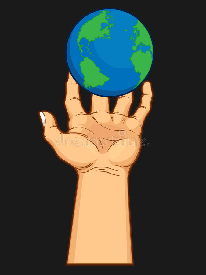 掌握世界的现有量 向量例证