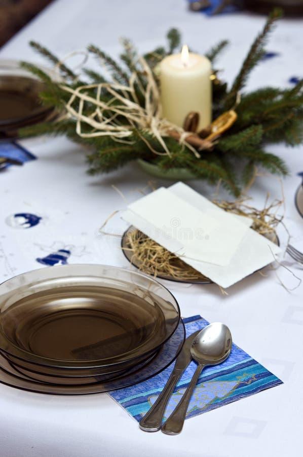 排列圣诞节表 免版税图库摄影