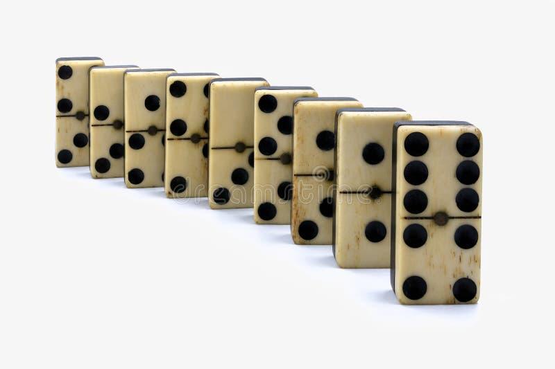 排列的多米诺 免版税库存图片