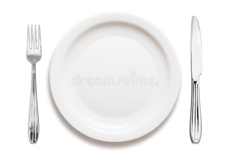 排列菜盘 免版税库存照片