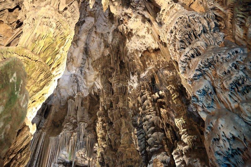 排列洞最高限额显示st钟乳石石笋的直布罗陀michaels 库存图片