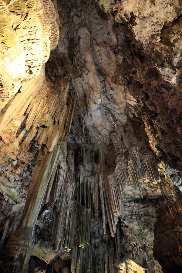排列洞最高限额显示st钟乳石石笋的直布罗陀michaels 库存照片