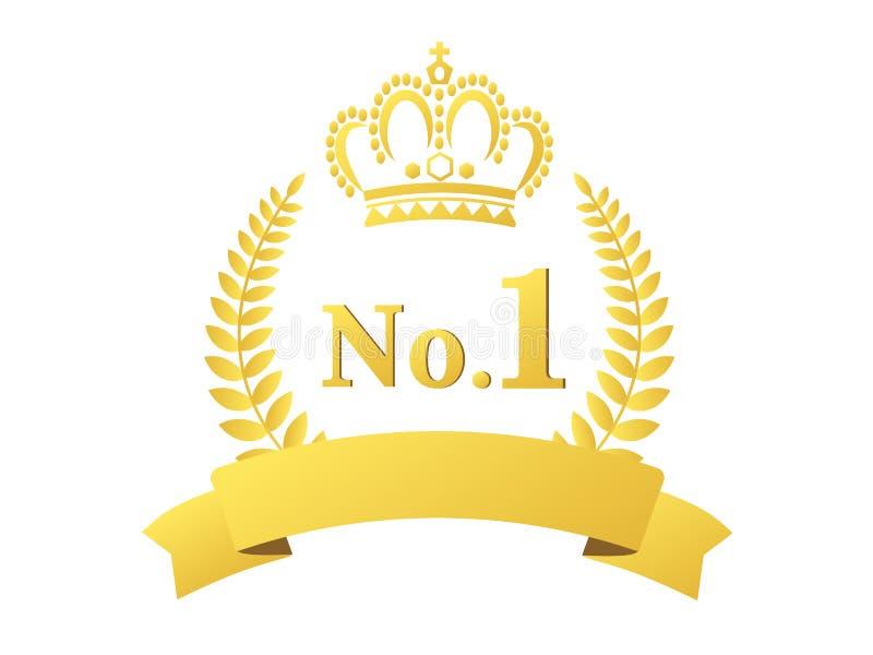 排名冠军1 库存例证