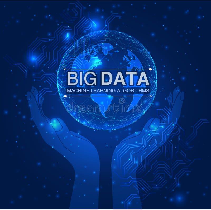排序形象化的传染媒介大数据信息 皇族释放例证