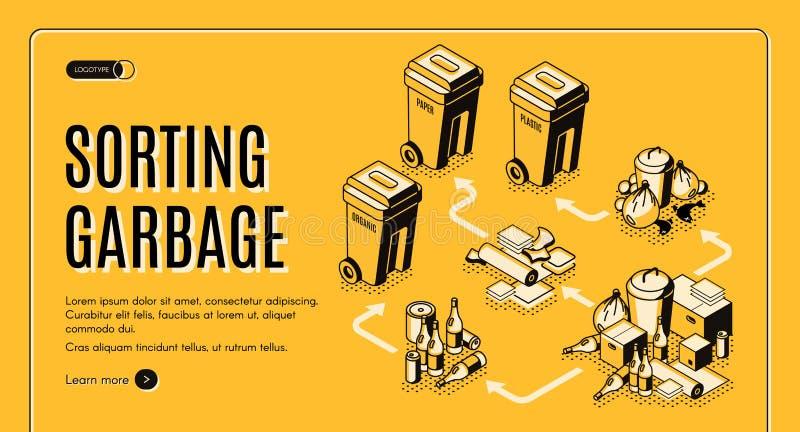 排序服务等量传染媒介网站的垃圾 向量例证