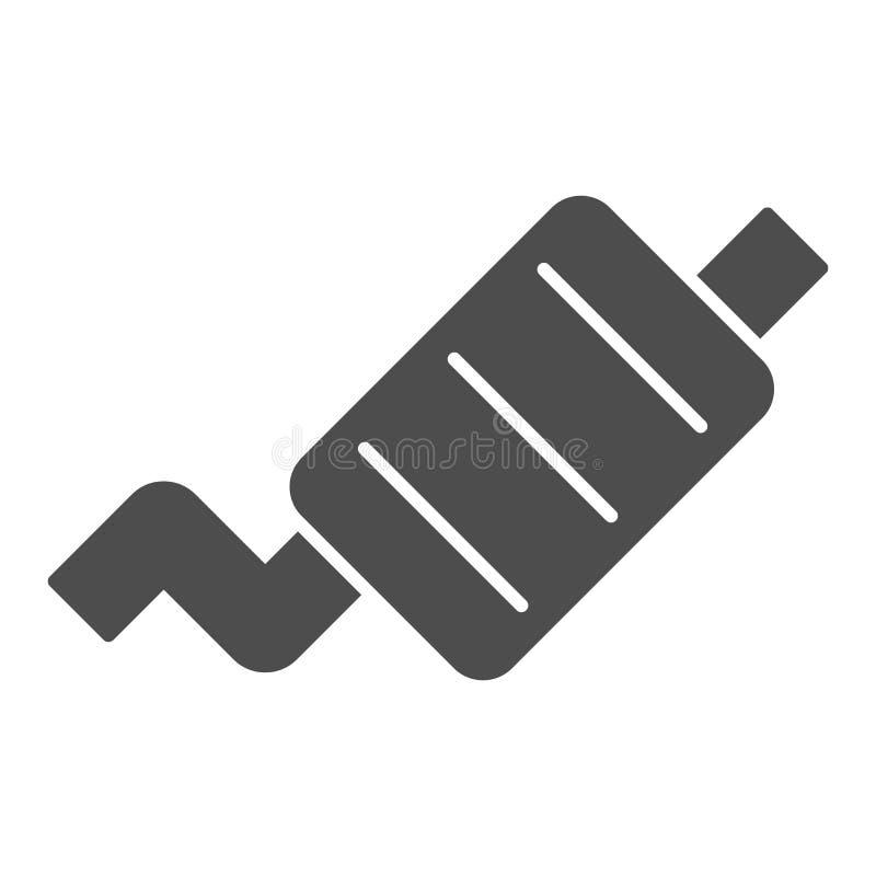 排气管坚实象 汽车围巾在白色隔绝的传染媒介例证 排气管纵的沟纹样式设计,设计为 皇族释放例证