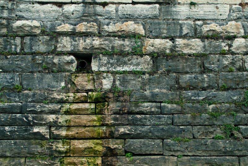 排泄石墙 免版税图库摄影
