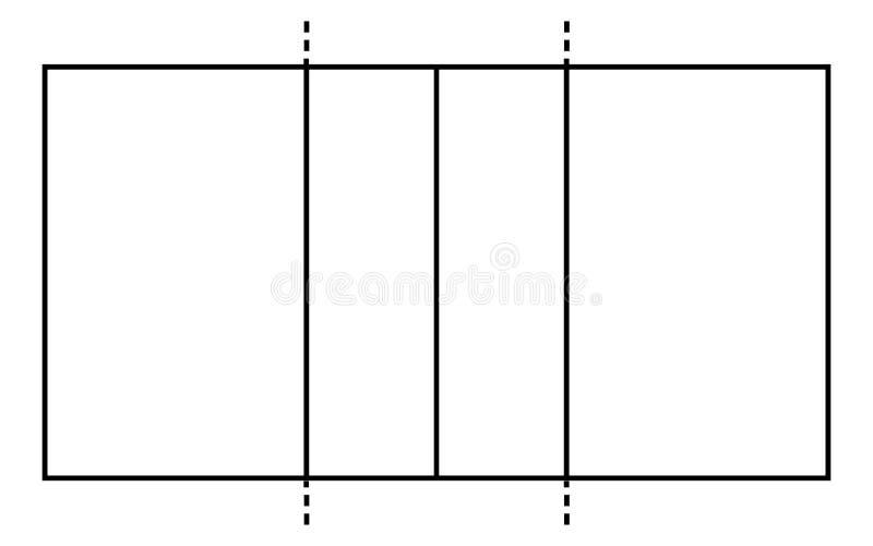 排球场 体育运动背景 线艺术样式 向量例证