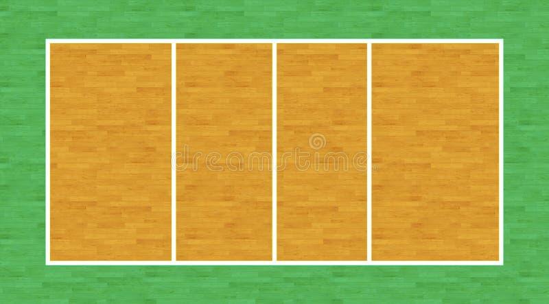 排球场 库存例证