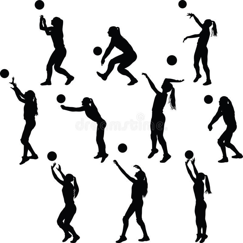 排球妇女球员 皇族释放例证