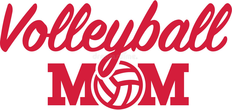 排球妈妈 向量例证