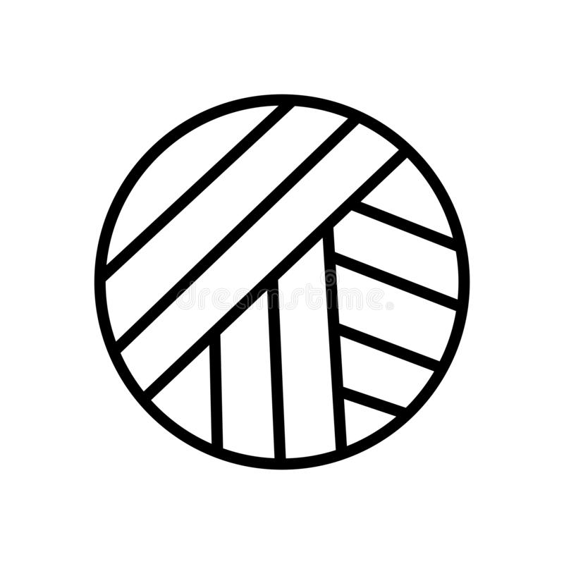 排球球在白色背景、排球球标志、线性标志和冲程设计元素隔绝的象传染媒介  库存例证