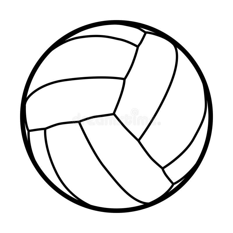 排球球 库存例证