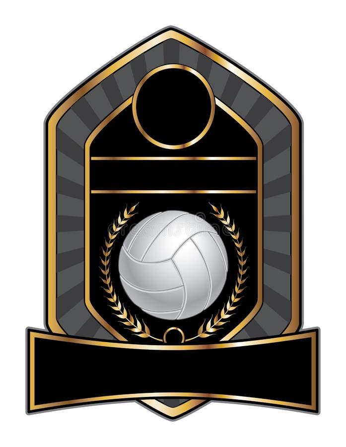 排球设计模板月桂树 向量例证
