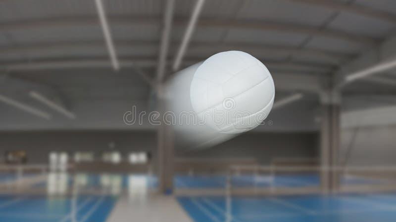 排球静止画面与速度迷离作用 向量例证
