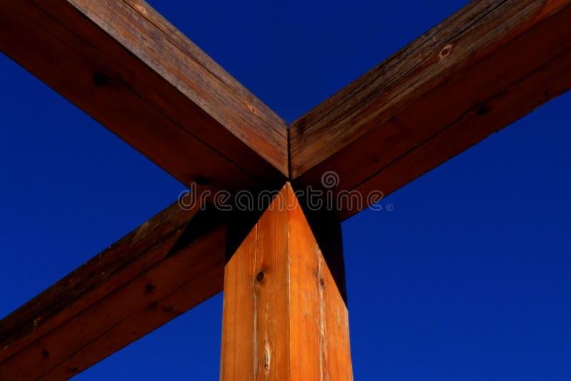 排行木头 库存照片