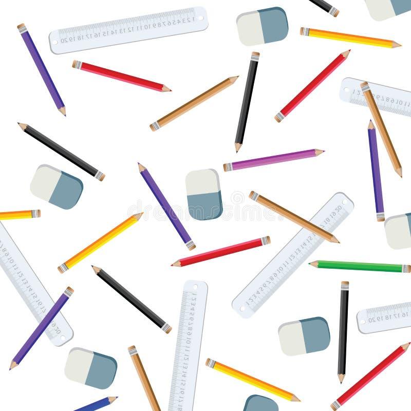 排行评定的铅笔 皇族释放例证