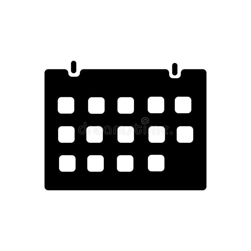 排进日程象在白色背景和标志隔绝的传染媒介标志,日历商标概念 皇族释放例证