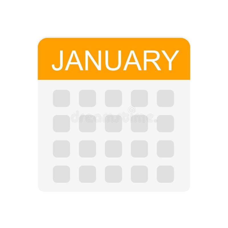 排进日程象在白色背景和标志隔绝的传染媒介标志,日历商标概念 向量例证