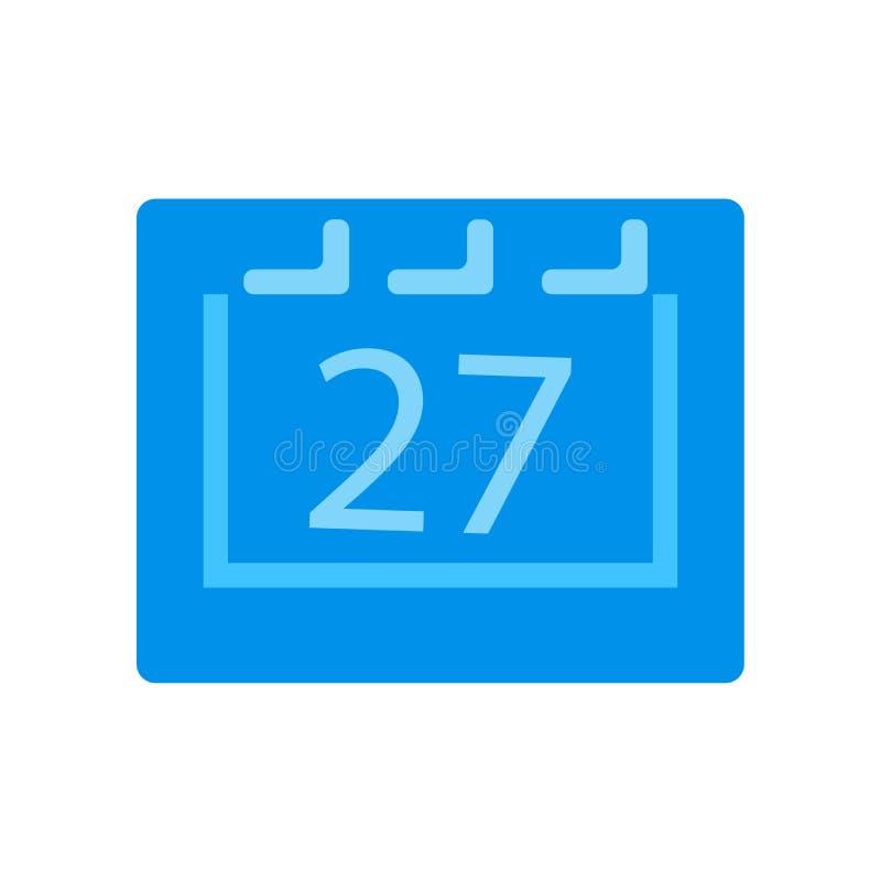 排进日程象在白色背景和标志隔绝的传染媒介标志,日历商标概念 库存例证