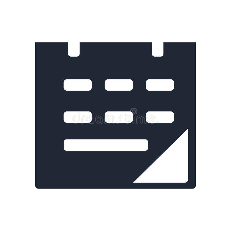 排进日程象在白色backgroun和标志隔绝的传染媒介标志 库存例证