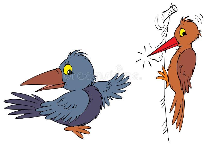 掠夺啄木鸟 向量例证