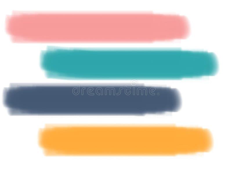 掠过抽象背景的淡色油漆 向量例证