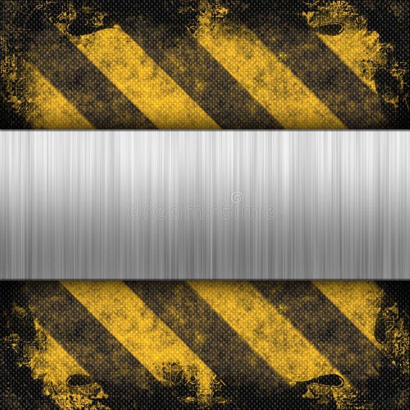 掠过的危险等级金属数据条 库存例证