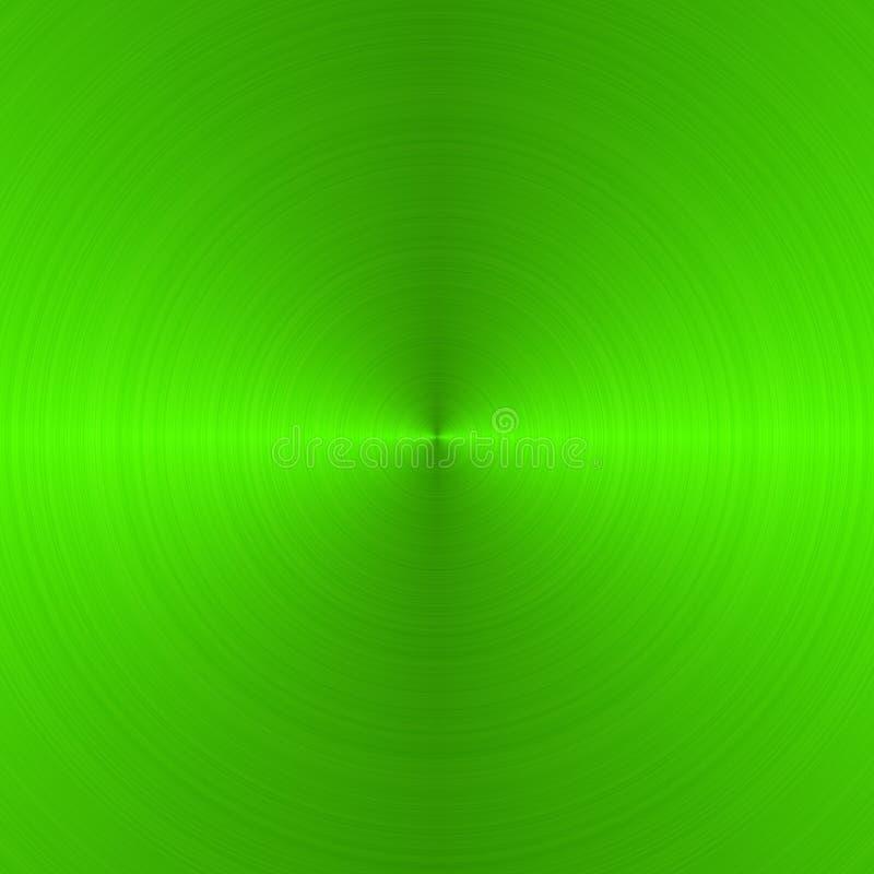 掠过的圆的绿色氖 皇族释放例证