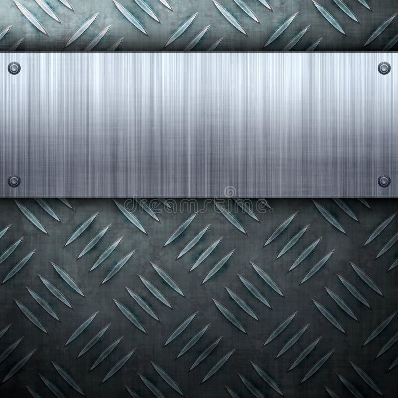 掠过的格式金属 向量例证