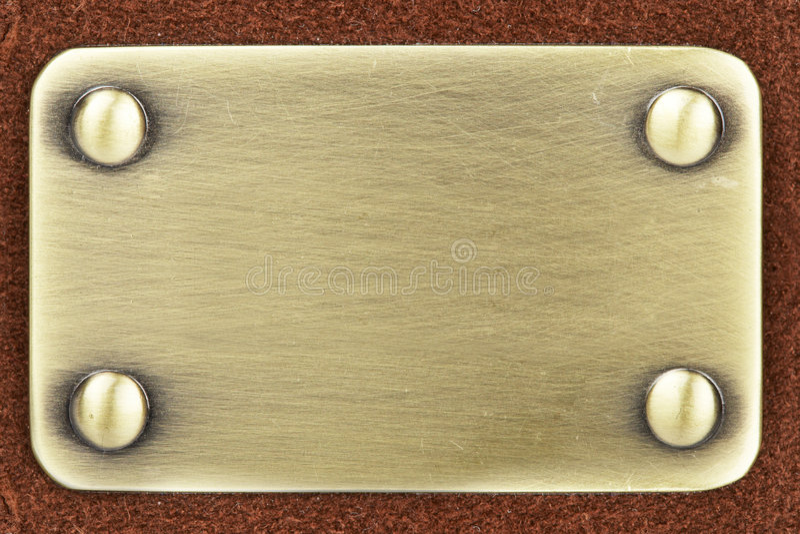 掠过的金属面板 免版税库存照片