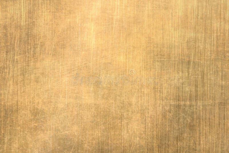掠过的金金属纹理 向量例证