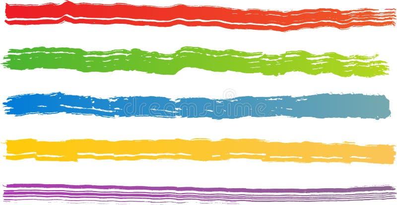 掠过颜色概略的冲程 皇族释放例证
