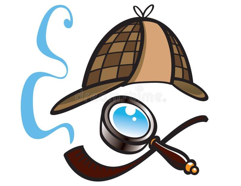 探员帽子 向量例证