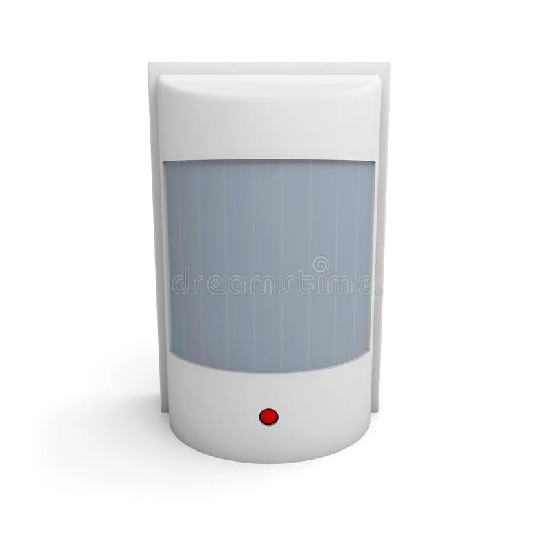 探测器传感器行动安全红外线 库存例证