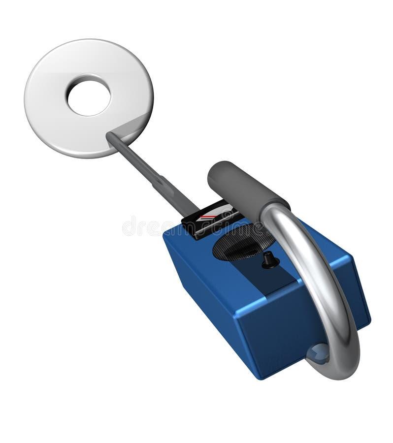 探测器金属 库存例证