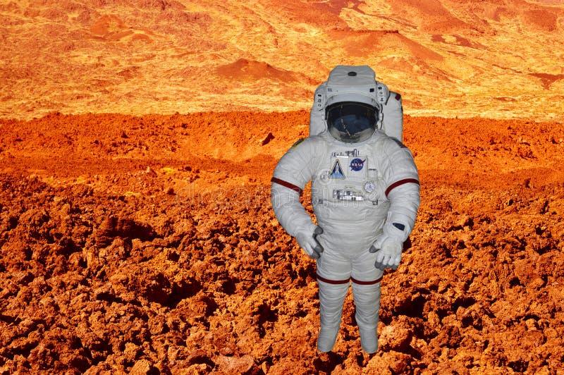探索在空间的美国航空航天局宇航员 免版税图库摄影