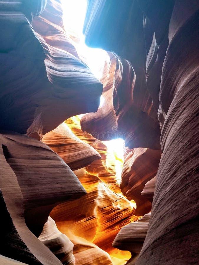 探索的羚羊峡谷亚利桑那美国 免版税图库摄影